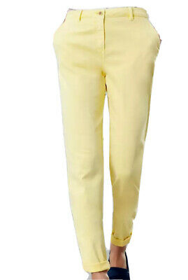 Joules Womens Hesford Chinos Trousers in LEMON Size 12