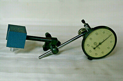 "Standard Dial Indicator #311 .001"" Increment, & Mitutoyo 984-107 On-Off Mag Base"