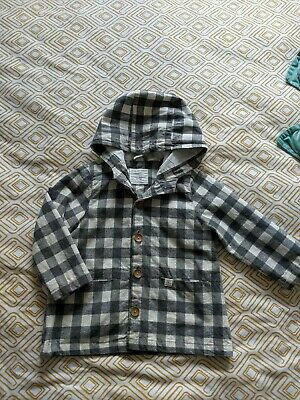 f41a26a3 ZARA BABY GIRL Gingham Lightweight Jacket 2-3