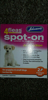 JOHNSON'S 4 FLEAS SPOT-ON for puppies & small dogs less than 4kg,