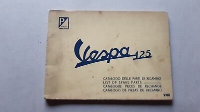 Piaggio Vespa 125 VNB 1961 catalogo ricambi originale spare parts catalogue