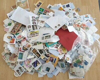 1Kg Unsorted Foreign Kiloware Charity Stamps On Paper