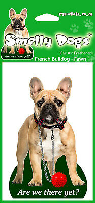 French Bulldog Fawn Dog Design with Lead Fragrant Air Freshener Perfect Gift