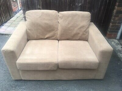 Wyvern Sofa 2 Seater Latte Brown Fabric Small