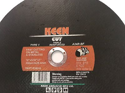 Box of 5- 12 in High-Speed Metal-Cutting Cut-Off Wheel KEEN ABRASIVES #18010