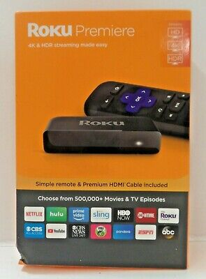 Roku Premiere | HD/4K/HDR Streaming Media Player w/Simple Remote & HDMI Cable