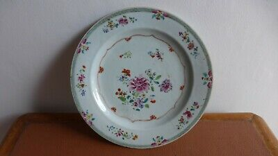 Antique chinese export porcelain plate. XVIIIth C Ancienne assiette Chine...D