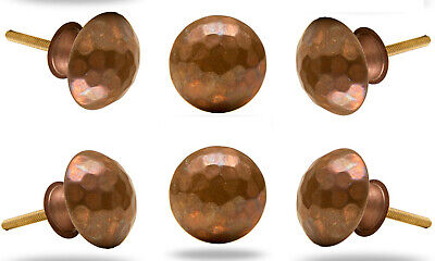 Set of 6 Beaten Copper Max Knobs