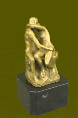 Baiser Rodin Solide Statue Art Collect Bronze Sculpture Figurine Décor Deal