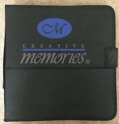 EUC Creative Memories Accessory Sticker Binder Organizer Velcro and Sleeves