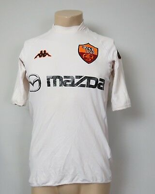 Vintage AS Roma 2002-03 away shirt Kappa soccer jersey size L (fits like S or M)