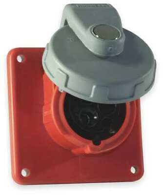 HUBBELL WIRING DEVICE-KELLEMS HBL330R7W IEC Pin and Sleeve Receptacle,30A,480V