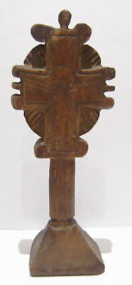 Antique Hand Carved Vintage Wooden Cross Bread Prosphora Stamp # 66C
