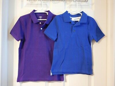 Old Navy Boys School Uniform Polo's Royal Blue 5T, Purple 6-7 Yrs