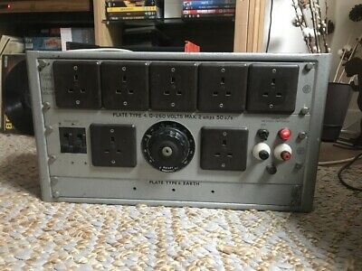 Vintage British Electric Resistance Variac Transformer Distribution Regavolt Lab