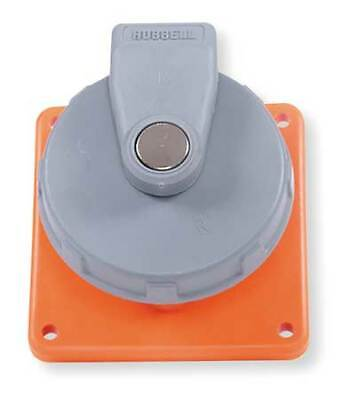 HUBBELL WIRING DEVICE-KELLEMS HBL420R12W IEC Pin and Sleeve Receptacle,20A,250V