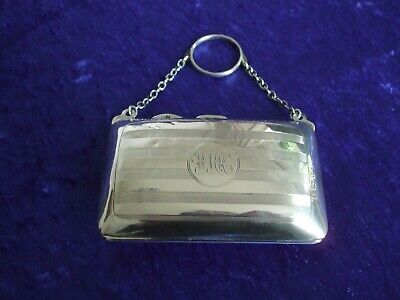 Antique Silver Hallmarked Ladies Finger Purse William Neale Birmingham 1915