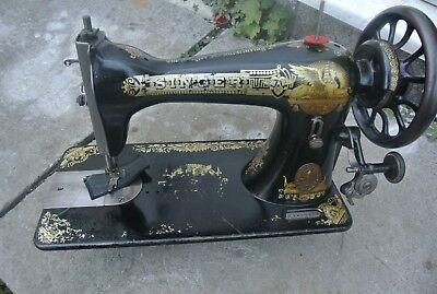 Singer 15K Antique Sewing Machine, vintage Home Decor