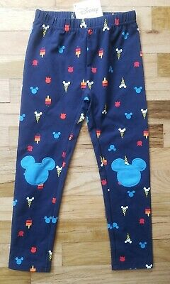 Nwt Hanna Andersson Livable Mickey Mouse Ice Cream Navy Blue  Leggings  110 5