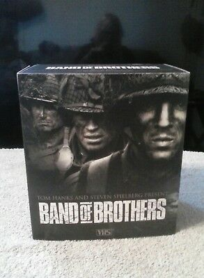BAND of BROTHERS-COMPLETE HBO SERIES-VHS TAPES BOX SET-WWII SERIES