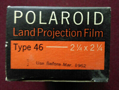 Polaroid type 46 land projection film. Boxed Unopened sealed Vintage 1962