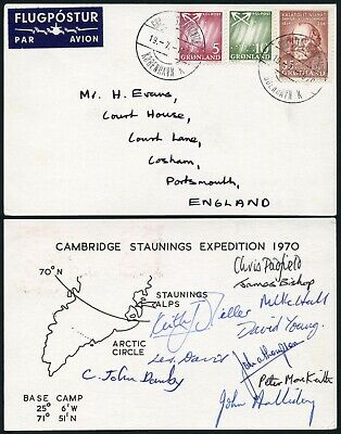Arctic Polar Mountaineering 1970 Cambridge Staunings Expedition Multi Signed