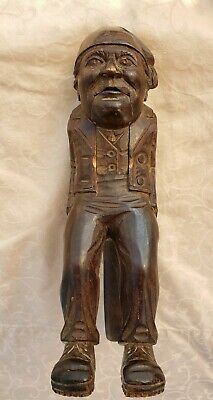 Antique German Nut Cracker Man Black Forest Hand Carved Rare Full Figural