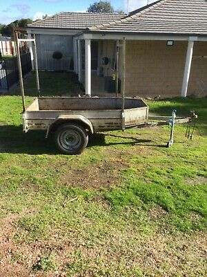 Trailer 7ft 8inch X 4ft Checkered Plate Floor & Sides Heavy Duty Not Registered