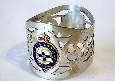 Collectable Metal Napkin Ring SS ORONSAY Orient Line EPNS 1951-1960* ~ Acc Cond