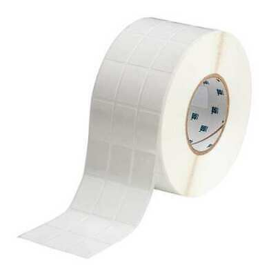 BRADY THT-89-498-5 Thermal Transfer Label, White, Labels/Roll: 5000
