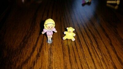 Vintage Polly Pocket Birthday Partytime Surprise 1989 2 figures with Teddy