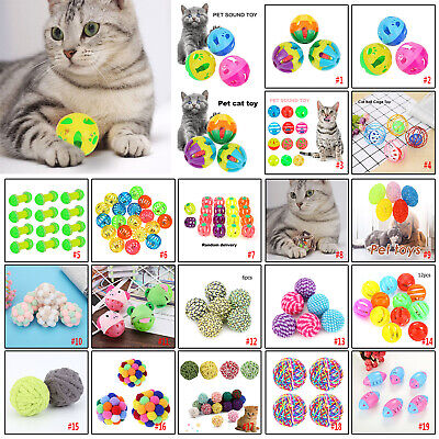 Pet Cat Colorful Bell Balls Toys Cat Sound Rattle Playing Chew Interactive Toy