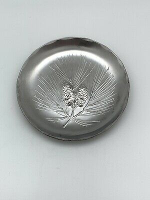 McLouth Stainless Steel Pine Cone Coaster Handmade Vintage Rare Mid Century