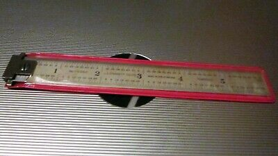 L.S.STARRETT No C604R POCKET TEMPERED STEEL MACHINIST HOOK RULER L@@K NO RESERV