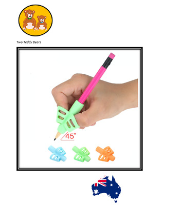 Pencil grip two finger Children writing correction tool Autism 3 pack