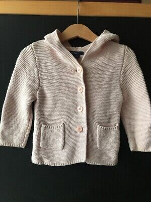 Gap Kids Girls Pink Knitwear Hoodie Jumper 12-18months