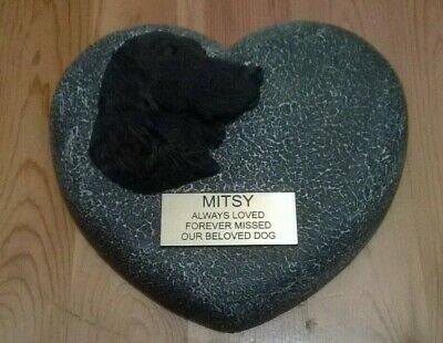 Dog Large Pet Memorial/headstone/stone/grave marker/memorial with plaque hd3