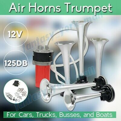 5pcs 125DB Trumpet Musical Dixie Dukes Of Hazzard Electronic Air Horn Compressor