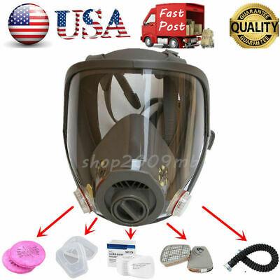 US Full Face Facepiece Respirator Gas Mask For 6800 Dust Paint Spraying