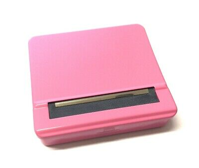 Pink Automatic Rolling Machine Strong Metal Cigarette Adjustable Roller Tin