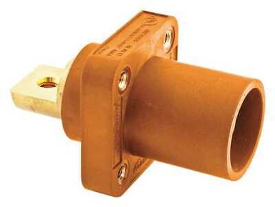 HUBBELL HBLMRBO Receptacle,Orng,Male,Double Set,Taper