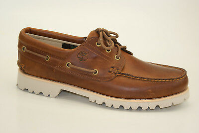 471b51c0123 MENS TIMBERLAND CHILMARK 3 Eye Hand Casual Leather Moccasins Shoes ...