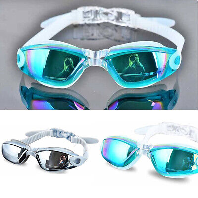 Silicone Adult UV Protection Anti-fog Diving Waterproof Swimming Goggle Glasses