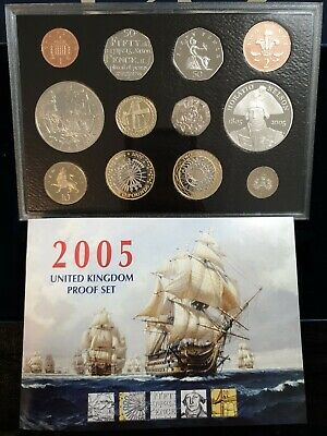 2005 UK Proof 12 Coins Year Set Royal Mint Of the battle of Trafalgar