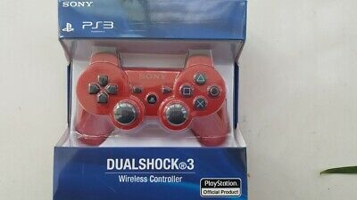 Original Sony PlayStation 3 PS3 DualShock 3 Wireless SixAxis Controller red
