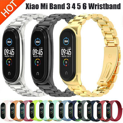 For Xiaomi Mi Band 4 2019 Metal Wrist Bracelet Stainless Steel Watch Band Strap