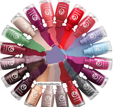 ORIFLAME ONCOLOUR NAIL POLISH shine shimmer red pink coral gold plum blue green