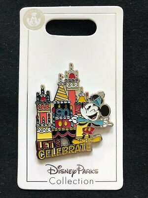 Disney Parks Pin Trading Mickey Mouse Let's Celebrate 90th