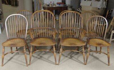 Windsor Dining Chairs - Set 8 Oak Kitchen Diners