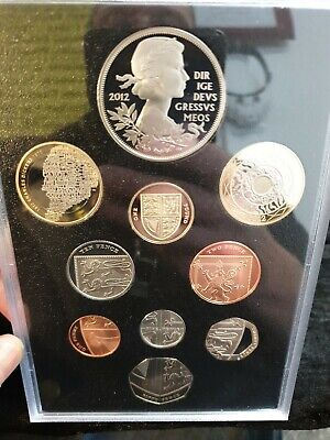 Royal Mint 2012 Uk Proof Coin Set Boxed With COA & White Outer Box